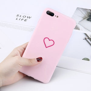 Heart Pattern Phone Cases For Iphone-Online Best Deals-7460 Pink-For iPhone X-Online Best Deals