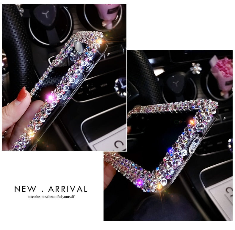 Luxury Fashion Rhinestone Crystal TPU Soft Phone Case-Online Best Deals-Online Best Deals