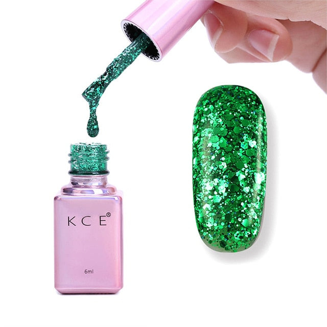 Shiny Glitter Sequins Nail Polish 6ml-Online Best Deals