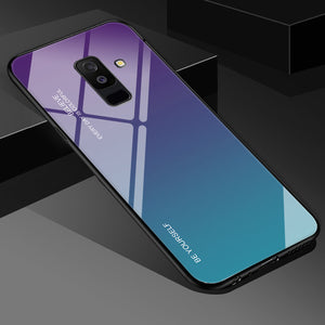 Tempered Glass Case For Samsung Galaxy S8 S9 S10 Plus S10e A5 2017 A7 A6 A8 J6 Plus J8 2018 Note 8 9-phone case-Online Best Deals