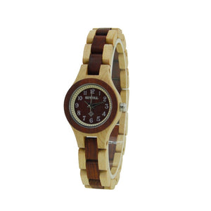 Bewell Women Wooden Quartz Watch-Online Best Deals