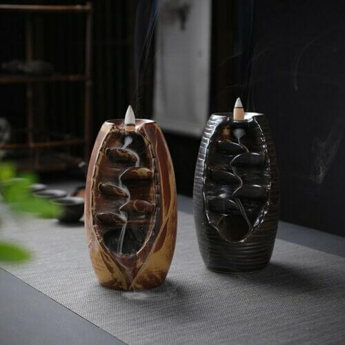 Ceramic Mountain River Handicraft Incense Holder-Online Best Deals