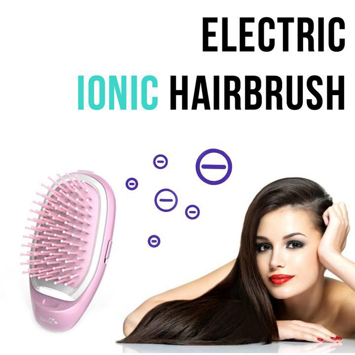 Portable Electric Ionic Hairbrush-Online Best Deals-Online Best Deals