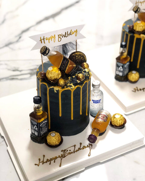 Black Label Buttercream Cake