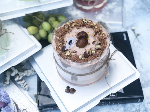 roasted chestnut coffee chiffon cake