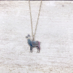 Llama Necklace in 925 Sterling Silver