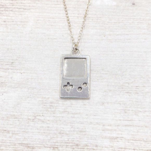 90s Retro Mobile Gaming Necklace in 925 Sterling Silver