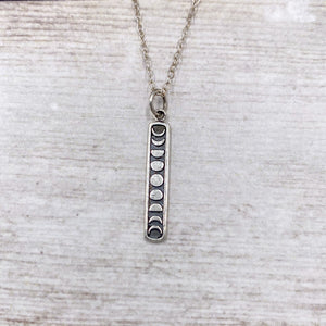 925 Sterling Silver Moon Phases Necklace