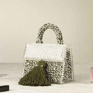 The Stella: Knitted Tassle Handbag