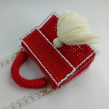 Load image into Gallery viewer, The Stella: Knitted Tassle Handbag