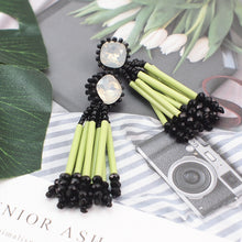 Load image into Gallery viewer, Long Drop Statement Earrings