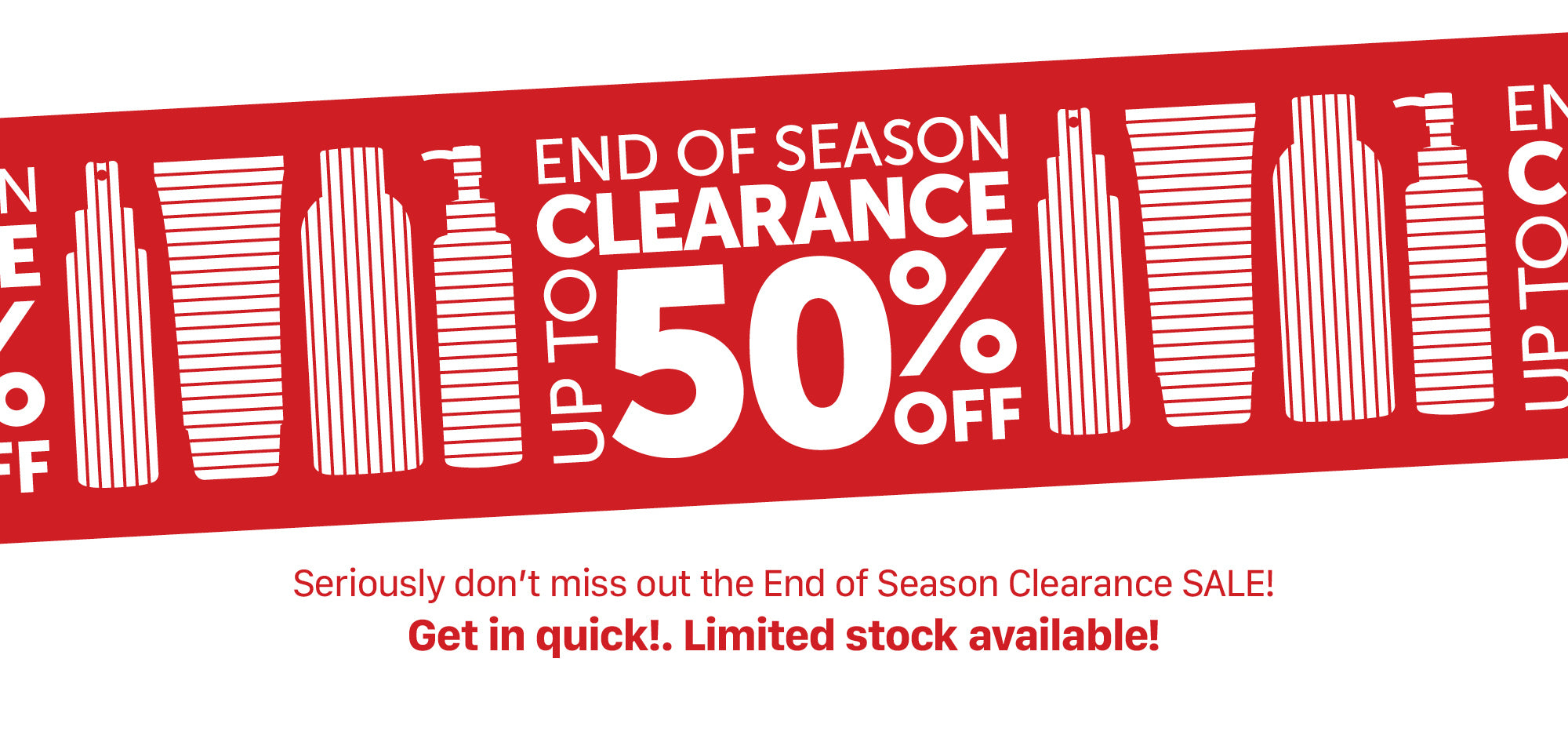 End of Summer, Clearance SALE