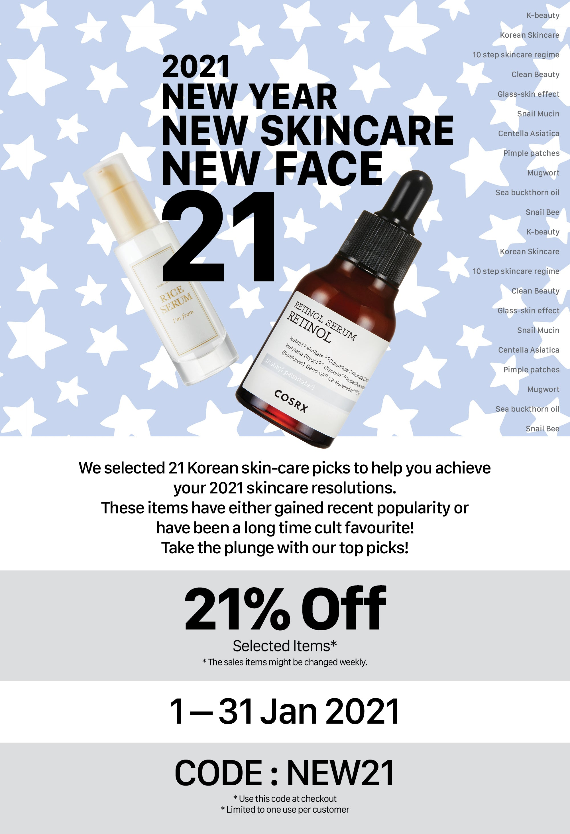 2021 New Year New Skincare Special