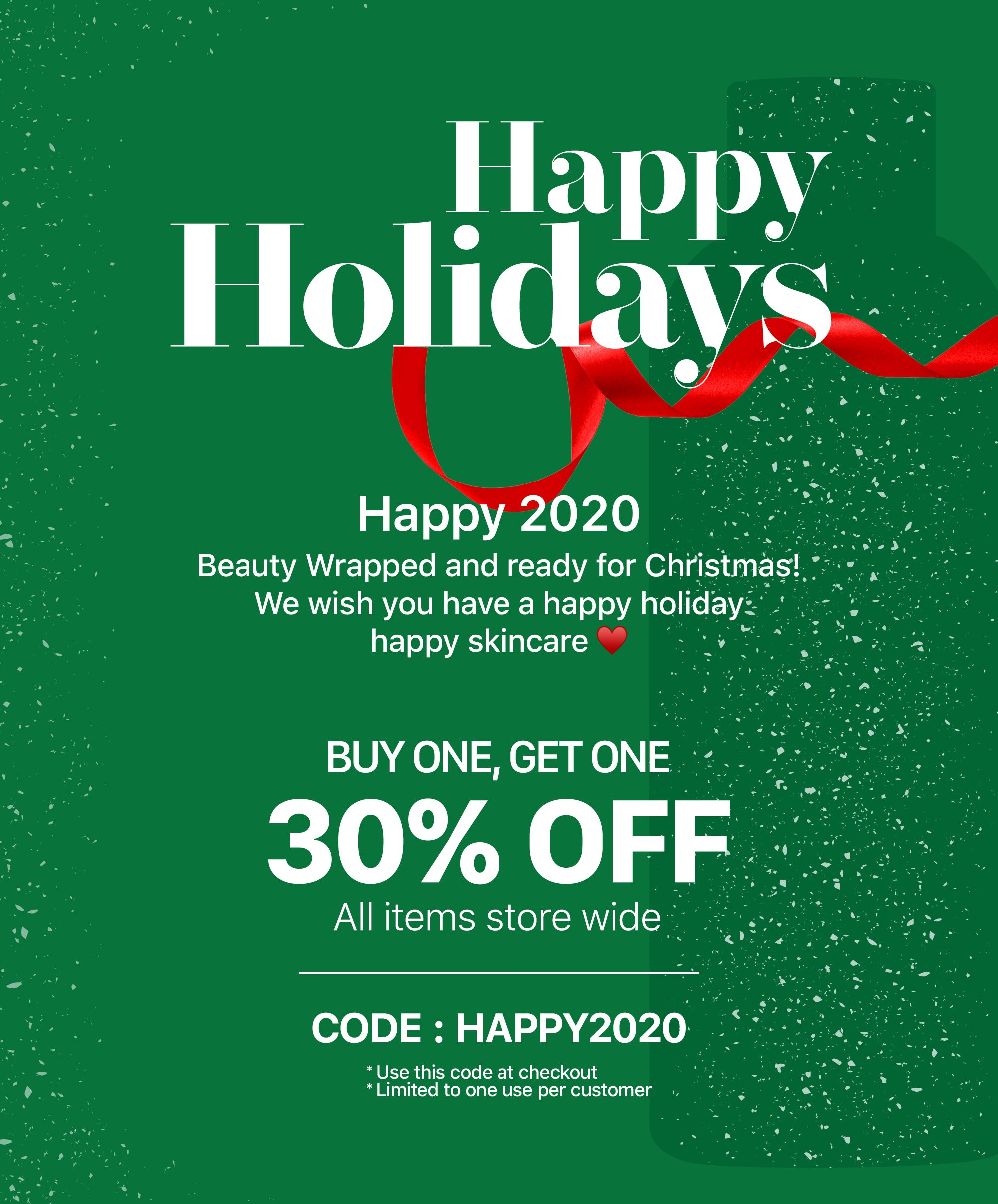 2020 happy holidays Special - New Face
