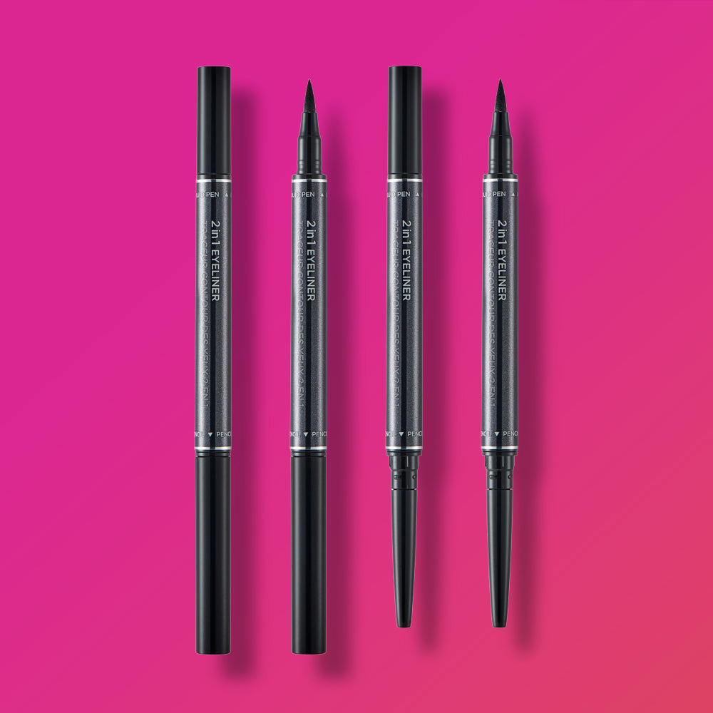THEFACESHOP 2 IN 1 EYELINER 01 BLACK