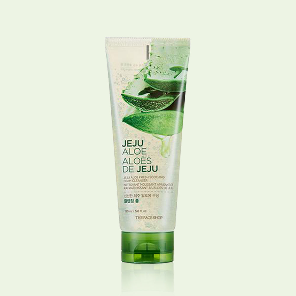 THEFACESHOP JEJU ALOE FRESH SOOTHING FOAM CLEANSER