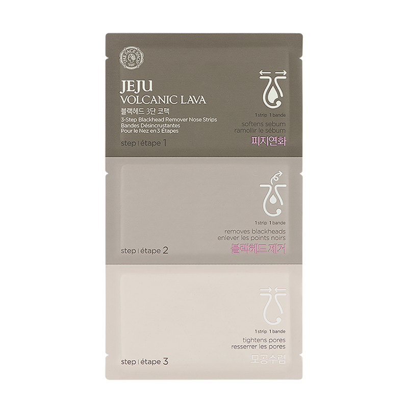 THEFACESHOP JEJU VOLCANIC LAVA 3 STEP BLACKHEAD REMOVER NOSE STRIPS - THEFACESHOP Australia