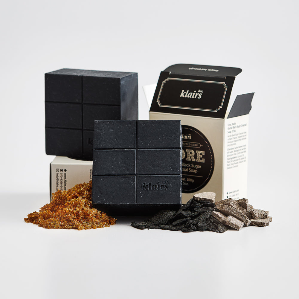 Dear Klaris Gentle Black Sugar Charcoal Soap
