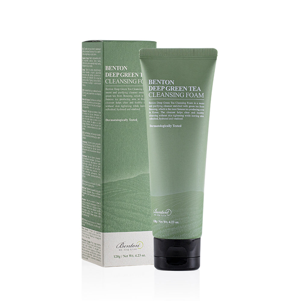 Benton DEEP GREEN TEA CLEANSING FOAM