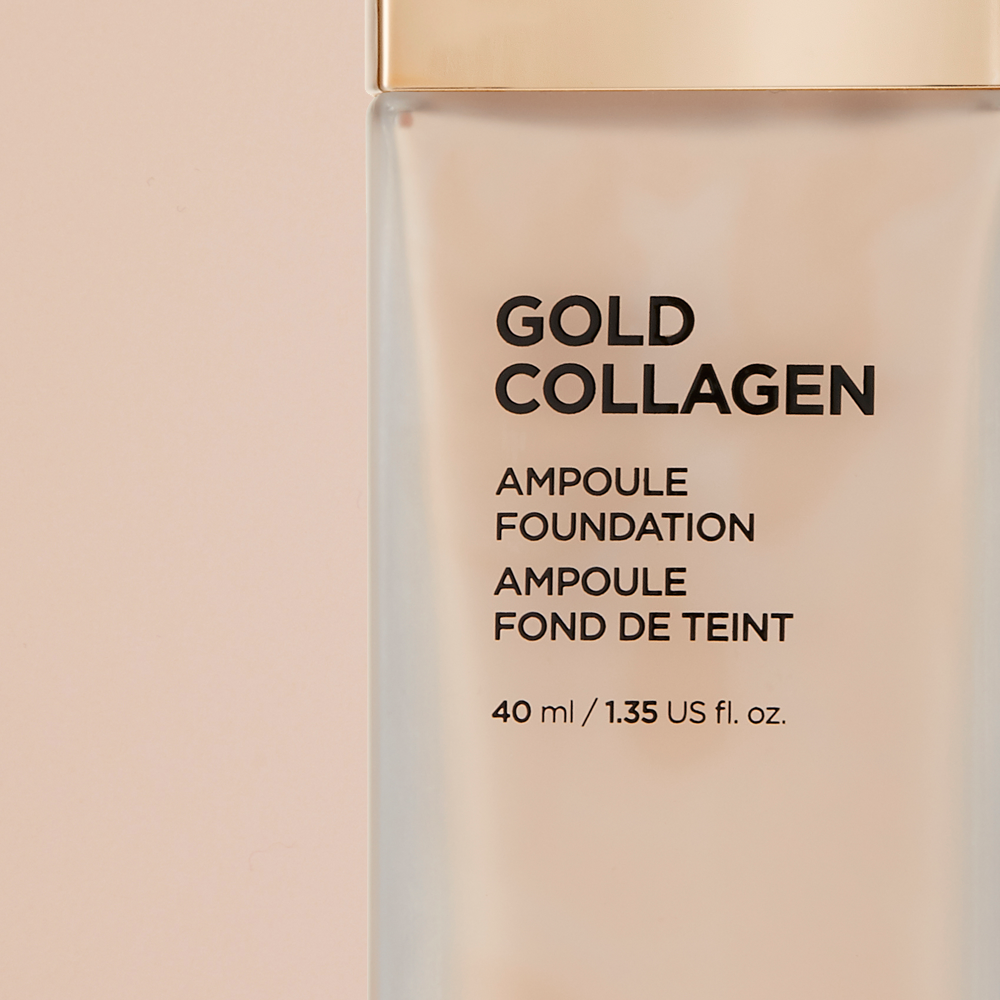 THEFACESHOP GOLD COLLAGEN AMPOULE FOUNDATION