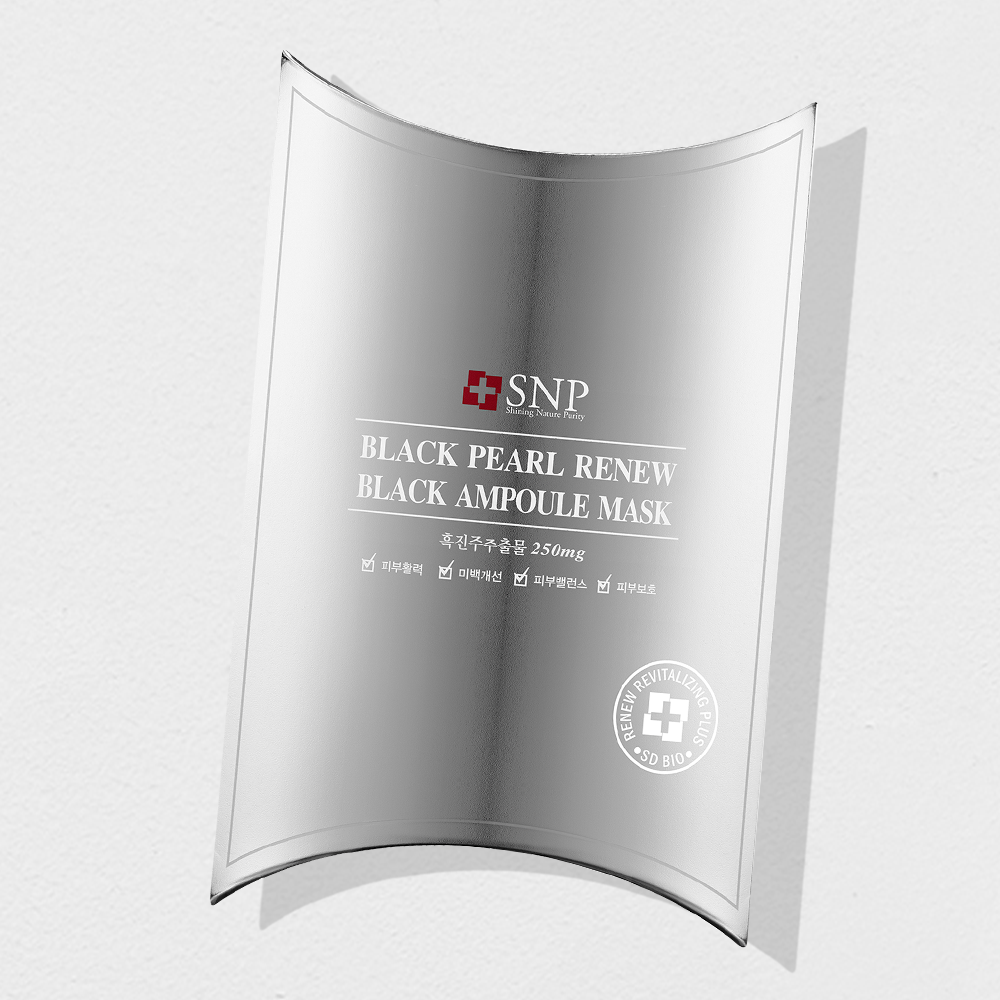 SNP Black Pearl RENEW Black Ampoule Mask