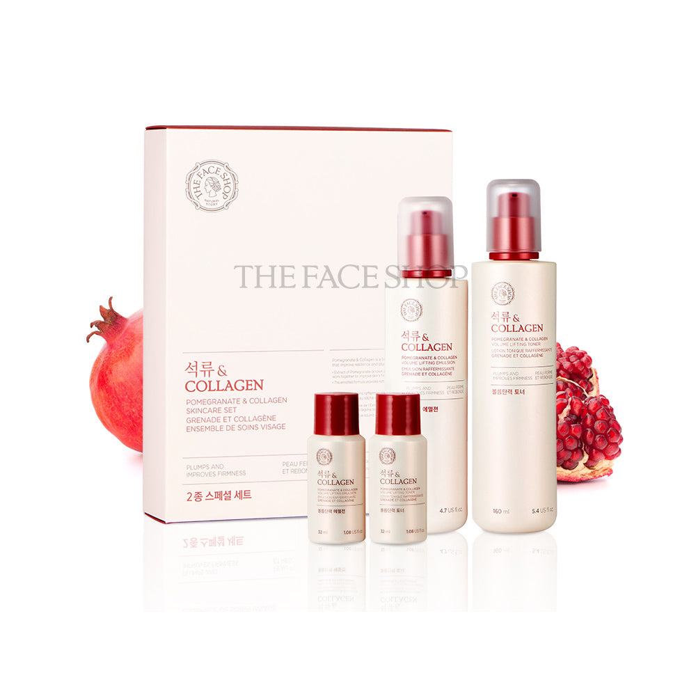 THEFACESHOP POMEGRANATE & COLLAGEN SKINCARE SET