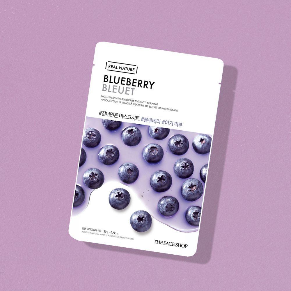 THEFACESHOP REAL NATURE Face Mask - Blueberry