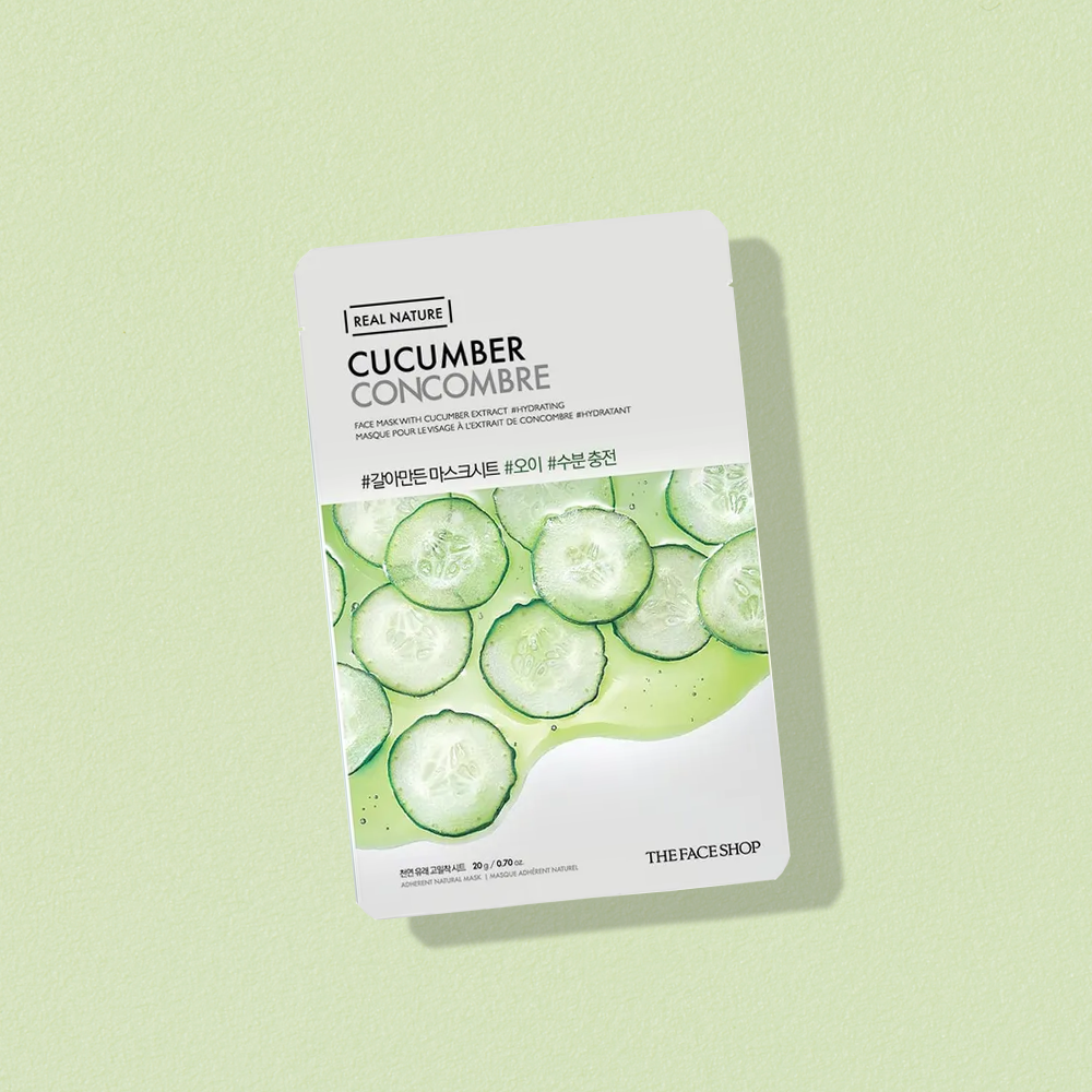 THEFACESHOP REAL NATURE Face Mask Cucumber