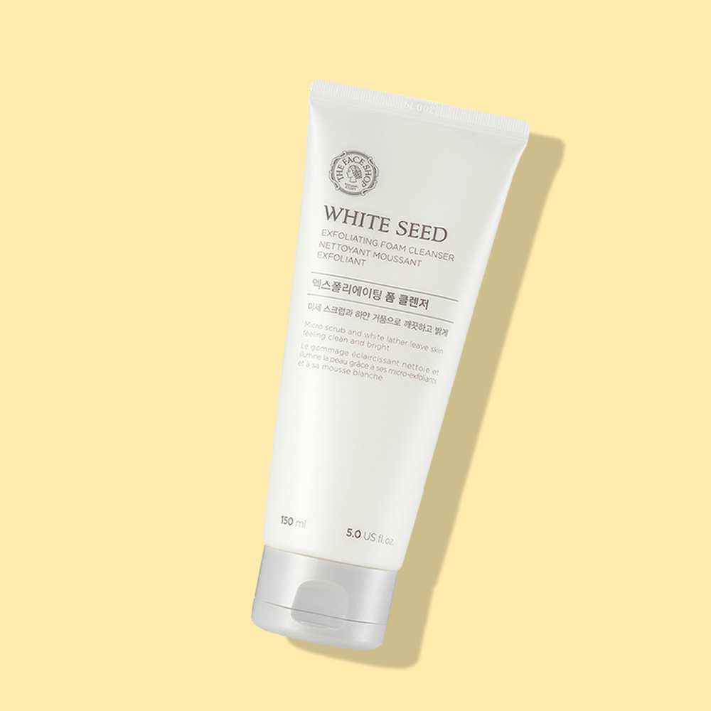 THEFACESHOP WHITE SEED EXFOLIATING CLEANSING FOAM