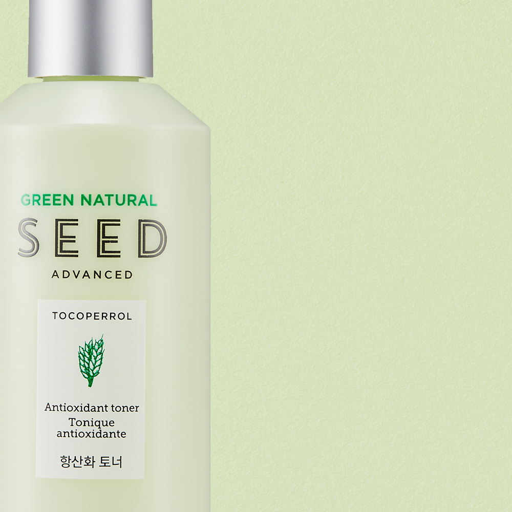 THEFACESHOP GREEN NATURAL SEED ANTI OXID TONER