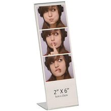 "Load image into Gallery viewer, Acrylic 2"" x 6"" Slanted Photo Booth Frame"