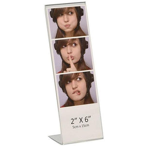 "Acrylic 2"" x 6"" Slanted Photo Booth Frame"
