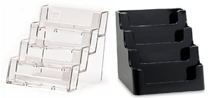 Acrylic 4-Pocket Countertop Business Card Holders