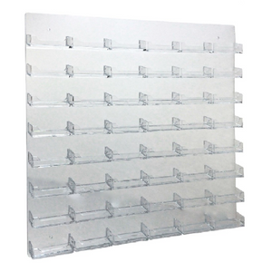 Clear Acrylic 48-Pocket Wall-Mount Business Card Holder