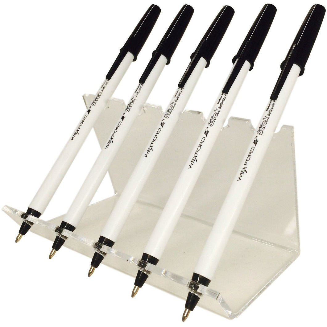 Acrylic Pen Stand Display - Holds up to 5 pens vertically