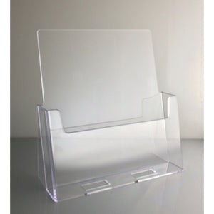 "Clear Acrylic 8.5"" x 11"" Countertop Brochure Holder"