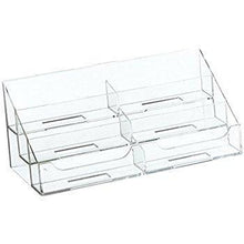 Load image into Gallery viewer, Clear Acrylic 6-Pocket Countertop Business Card Holder