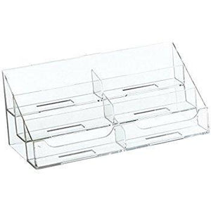 Clear Acrylic 6-Pocket Countertop Business Card Holder