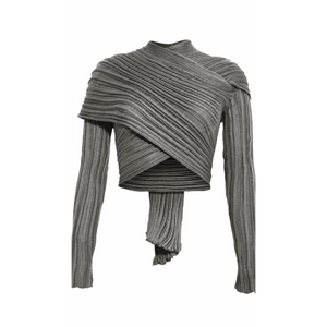 Cotton Knit Wrap Top - LaLunaLifestyle