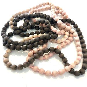 Hand-woven, Organic Cotton, Beaded Necklace - LaLunaLifestyle