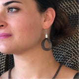 Handwoven Mesh Wire Hoop Earrings - LaLunaLifestyle