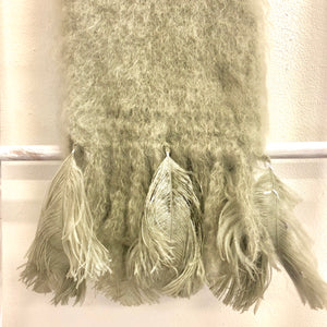 Mohair Scarf with Ostrich Feather - LaLunaLifestyle