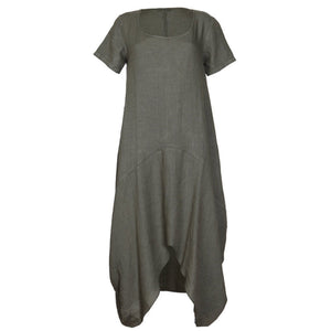 Linen Mid-length, Cocoon dress - LaLunaLifestyle