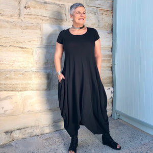 Cocoon Cotton  Dress - LaLunaLifestyle