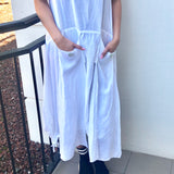 Layered Linen Dress - LaLunaLifestyle