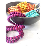 Hand-dyed Wooden Coil Bangles - LaLunaLifestyle