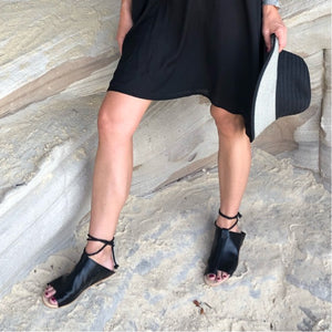 Leather Gladiator Sandal - LaLunaLifestyle