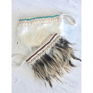 Feather & Shell Clutch - LaLunaLifestyle