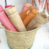 Hand-Woven Raffia Table Runners - LaLunaLifestyle