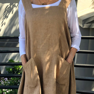 Linen Pinafore Dress